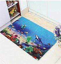 KKCFTAN Mat Wasserdichte Tür Boden Teppich Teppich Badezimmer Anti-Roll Schlafzimmer Matten Boden Teppich ( farbe : D , größe : 80*120cm )