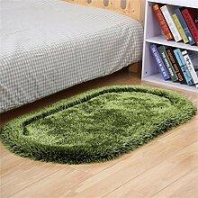 KKCFTAN Modern Einfache Dicke Ovale Schlafzimmer Bedside Mat Wohnzimmer Couchtisch Teppich Fuß Teppich ( farbe : B , größe : 80*160cm )