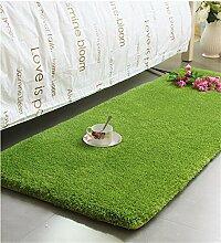 KKCFTAN Thicker Full Floor Türmatten Schlafzimmer Nachttisch Teppich Long Bay Fenstermatten ( farbe : A , größe : 60*160cm )