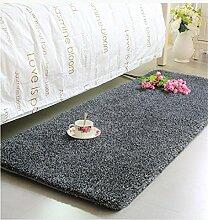 KKCFTAN Thicker Full Floor Türmatten Schlafzimmer Nachttisch Teppich Lange Fuß Teppich Fenster Matten ( farbe : F , größe : 50*140cm )