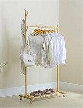 KKCFYIJIA Kleiderständer Kleiderbügel im europäischen Stil Kreative moderne Wohnzimmer Schlafzimmer Balkon Kleiderständer (farbe : Gelb)