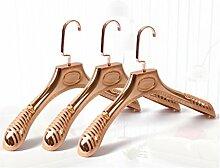 KKLL Aufhänger bereifte Plastik Männer und Frauen Anti Skid Anzug Durable Extra Wide Rose Gold Kleiderbügel (Packung mit 20) , rose gold , 38*23.5*4.5cm