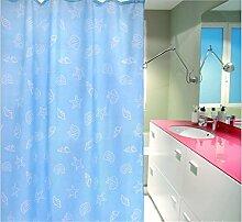 KKLL Bad Dekoration Polyester Bad Duschvorhang wasserdichte Duschvorhänge hängen Vorhang abgeschnitten , 180*200