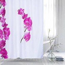 KKLL Bad Dekoration Polyester Blackout Bad Duschvorhang abgeschnitten hängenden Vorhang wasserabweisend antibakterielle Dusche Vorhang 180 * 200cm , 180*200cm