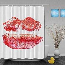 KKLL Duschvorhang 3D Lippen Digitaldruck Badezimmer Anti-Vorhang Dekoration Partition Vorhang , 2 , 180*180