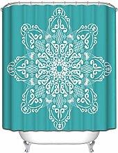 KKLL Duschvorhang Polyester Persönlichkeit verdickte Mildewproof wasserdichte Badezimmer Dekoration Badewanne Occlusion Vorhang , 3 , 200*180cm