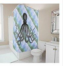 KKLL Duschvorhang Vorhang Polyester personalisierte Dekoration wasserdichte Blackout Bad Dusche Rollo für Bad , 165*180