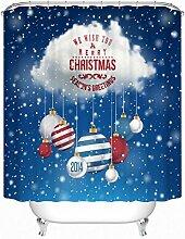 KKLL Duschvorhang Weihnachten Home Personality Dekoration Badezimmer Wasserdicht Mehltau Halbschatten Vorhang , 180*200cm
