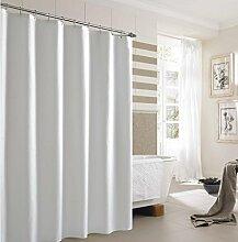 KKLL Duschvorhang weiße wasserdichte Mehltau Polyester Badezimmer Dekoration abgeschnitten Hanging Vorhang den Haken senden , 200*200cm