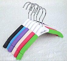KKLL Kinder Farbe Schwamm Anti Skid Aufhänger Bekleidungsgeschäft Anti-Rutsch-Kleiderbügel (Packung mit 20) , beige , about 31*17cm