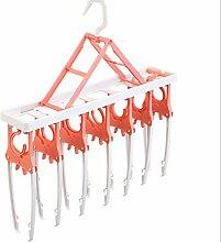 KKLL Kleiderbügel kreative Kunststoffe bequem Falten der Kleidung Lagerregal Zahnstangen Home Funktion Magic Kleiderbügel trocknen , orange