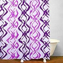 KKLL lila Welligkeit Polyester wasserdicht Duschvorhang Bad Dekoration Blackout hängenden Vorhang abgeschnitten , 180*200cm