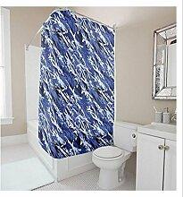 KKLL Moderne minimalistische Polyester Duschvorhang Bad Dekoration Water-Repellent antibakterielle Blackout Bad Duschvorhang , 165*180