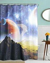KKLL Polyester Dusche Vorhang 3D Printing Badezimmer Dekoration Blackout Bad Duschvorhang , 180x200