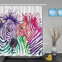 KKLL Polyester-Duschvorhang Badezimmer Dekoration 3D-Druckwasserdicht Mehltau Trennvorhänge , 90*180