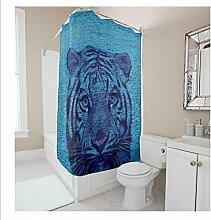 KKLL Polyester wasserabweisend antibakterielle Dusche Vorhang Badezimmer Dekoration Blackout Bad Duschvorhang , 165*180