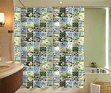 KKLL Polyester Wasserdicht Mehltau verdickte Land Blumen Badezimmer Dekoration Duschvorhang Isolation Vorhang , 150*200cm