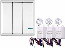 KKmoon AC 180 ~ 275V SmartHome Funk-Einzelwandschalter Wireless Switch Transmitter Switch Receiver Controller Keine Verdrahtung Fernbedienung Wasserdichte Haus Beleuchtung & Geräte
