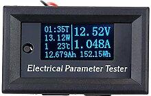 KKmoon OLED 7-in-1 elektrischer Parameter Meter Voltage Strom Zeit Power Energie Kapazität Temperatur Spannungsprüfer