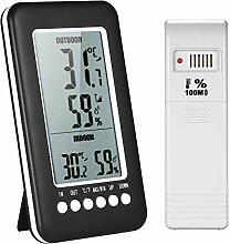 KKmoon Thermometer Hygrometer LCD Digital Wireless