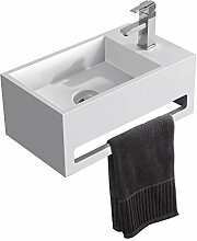 KKR Mineralguss Waschbecken für Gästebadezimmer,