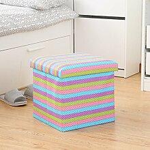 KKY-ENTER Multifunktions-Aufbewahrung Hocker Falten für den Schuh Hocker Aufbewahrung Hocker Spielzeug Aufbewahrungsbox Sofa Für Schuh Hocker ( größe : 76*38*38cm )