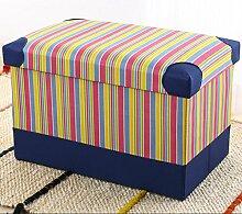 KKY-ENTER Multifunktions-Aufbewahrung Hocker Haus Sofa Hocker Faltbare Aufbewahrungsbox Erwachsene Für Schuh Hocker ( Farbe : C , größe : 40*25*25cm )