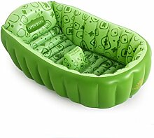 Klapp Badewanne Baby-Bad / setzen Universalartikel / Babybadewanne / aufblasbare verdickte neugeborene Kinderbadewanne / faltende Babybadewanne Faltbare Badewanne ( Farbe : Grün )