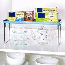 Klapp-Regal, 2 Stück , Ablagefach Klappregal für mehr Platz in Schränken, der Küche oder auf der Arbeitsplatte