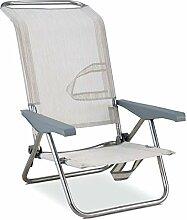 Klapp-Sessel/-Liege, mehrere Positionen, Alu und Textil, Modell zufällig