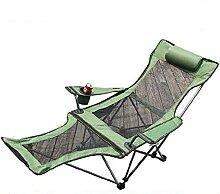 Klappbar Camping Stuhl Mit Fußstütze,Stabil