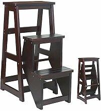 Klappbare 3-Stufen-Leiter Aus Holz,