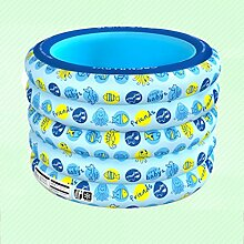 Klappbare Badewanne Rundes Schwimmbecken, überdimensioniert aufblasendes Baby Schwimmen Eimer Junge Kinder Umweltschutz Schwimmbad Aufblasbare Badewanne ( Farbe : D )