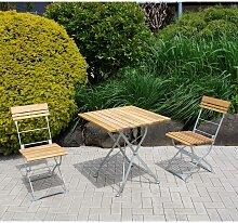 Klappbare Garten Sitzgruppe aus Robinie Massivholz