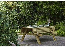 Klappbare Gartenbank Madyson aus Holz Garten Living