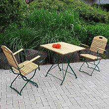 Klappbare Gartenmöbel aus Robinie Massivholz