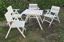 Klappbare Gartensitzgruppe aus Holz von R.