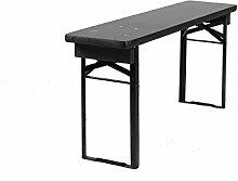 Klappbare Picknickbank, Bierbank, schwarz, 120 x 25 cm – FSC Gütezeichen