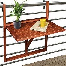 Klappbarer Balkontisch Bylnice aus Holz Garten