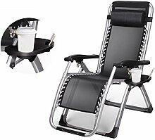 Klappbarer Chaiselongue-Sessel aus Stahl mit