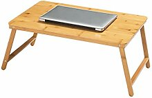 Klappbarer Computertisch Bambus Faltbarer Stauraum