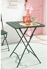Klappbarer Gartentisch aus Stahl (60 x 60 cm)