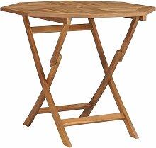 Klappbarer Gartentisch Teak Massivholz 85x85x76cm