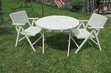 Klappbarer Gartentisch und Stühle von Gleyzes,