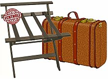 klappbarer Kofferständer Gepäckständer Koffer Hocker mit Wandschoner - Echtholz
