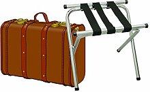 klappbarer Kofferständer Gepäckständer Koffer Hocker oder Tablettablage - chrome