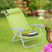 Klappbarer Strandstuhl mit Kissen Coldwell Garten