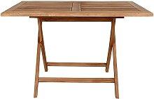 Klappbarer Tisch aus Teak Massivholz Garten