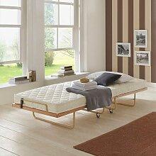 Klappbett aus Buche Massivholz für Gäste