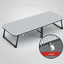 Klappbett Einzelne Rahmen mit Rädern, tragbares
